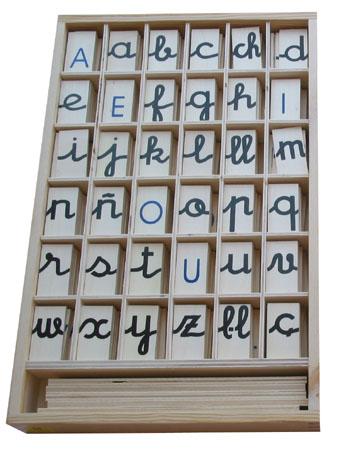 abecedario en manuscrita